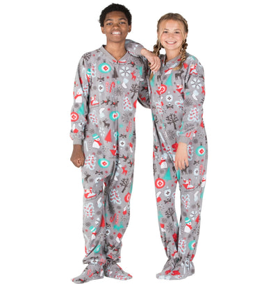 Family Matching Santa's Village Fleece Onesie