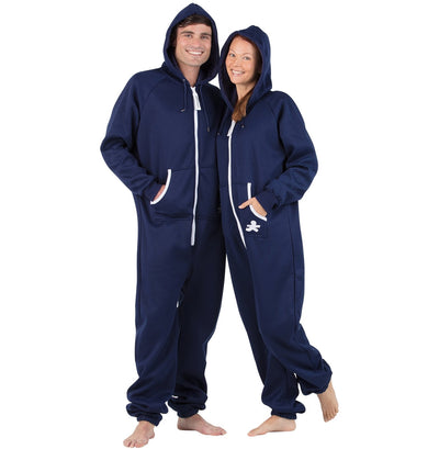 Family Matching Navy Blue Hoodie Onepiece Onesie