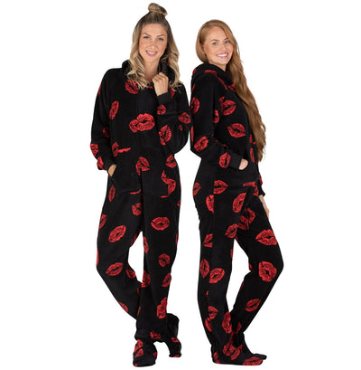 Family Matching Pucker Up Hoodie Chenille Onesie