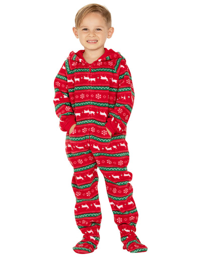 Nordic Christmas Toddler Hoodie Fleece Onesie