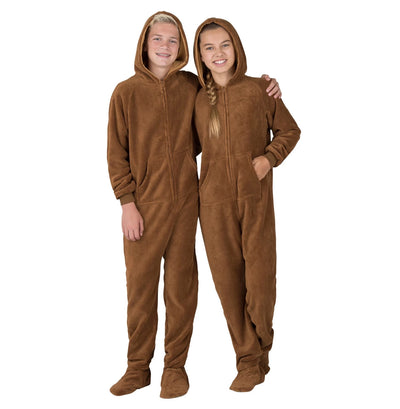 Family Matching Teddy Bear Hoodie Chenille Onesie