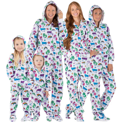 Family Matching Rainbows N' Unicorns Hoodie Fleece Onesie