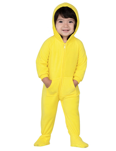 Lemon Yellow Infant Hoodie Fleece Onesie
