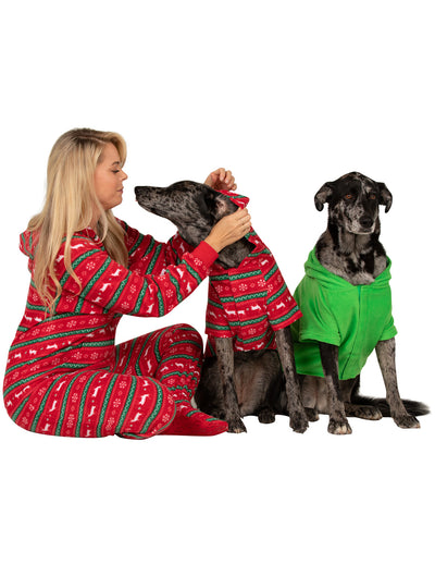 Nordic Christmas Pet Pjs Fleece Hoodie
