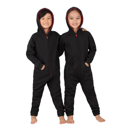 Family Matching Black & Red Hoodie Onepiece Onesie