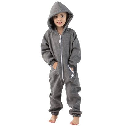 Family Matching Charcoal Gray Hoodie Onepiece Onesie