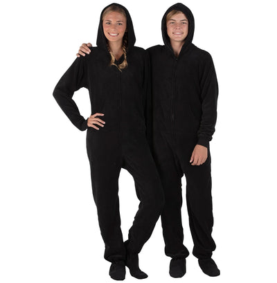 Family Matching Jet Black Hoodie Chenille Onesie