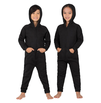 Family Matching Pitch Black Hoodie Onepiece Onesie