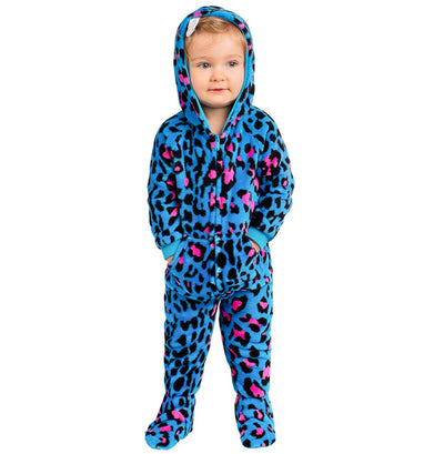 Family Matching Neon Kitty Hoodie Chenille Onesie