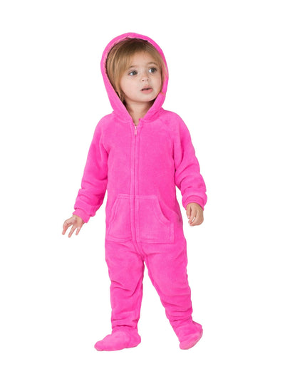 Perfect Pink Infant Hoodie Chenille Onesie