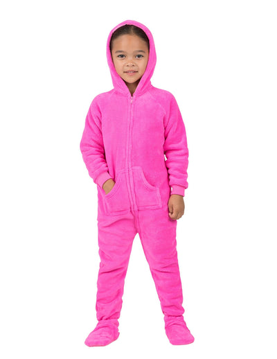 Perfect Pink Toddler Hoodie Chenille Onesie
