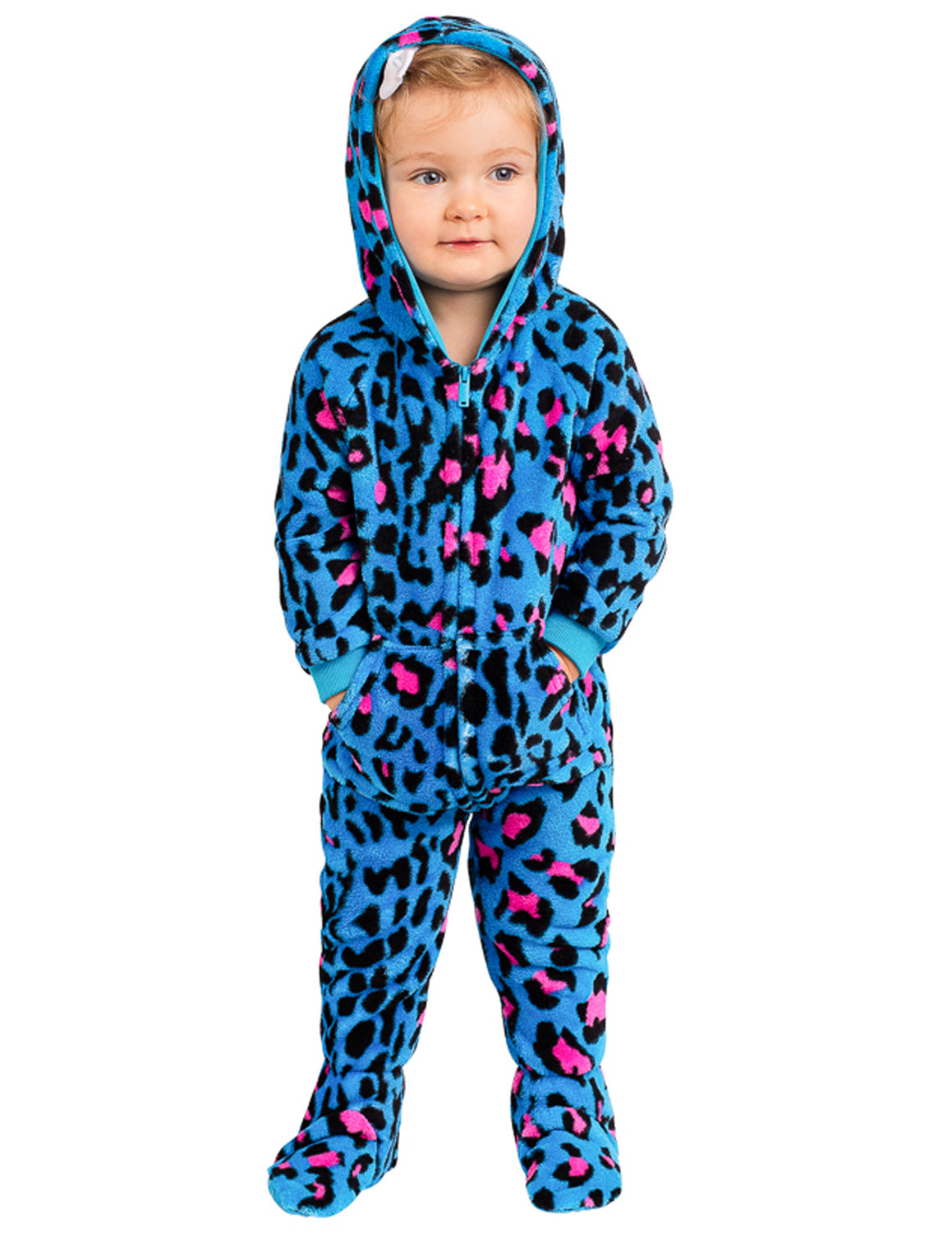 Neon Kitty Infant Hoodie Chenille Onesie