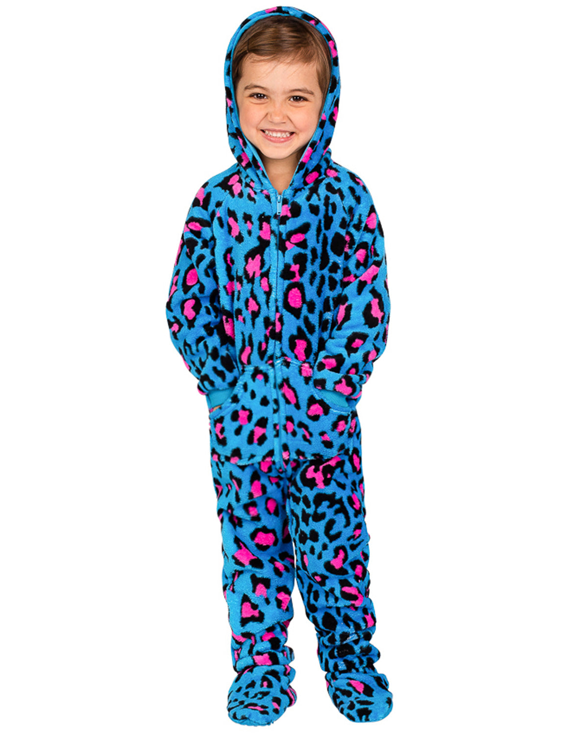 Neon Kitty Toddler Hoodie Chenille Onesie