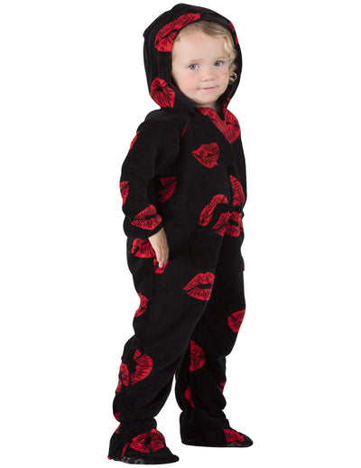 Pucker Up Infant Hoodie Chenille Onesie