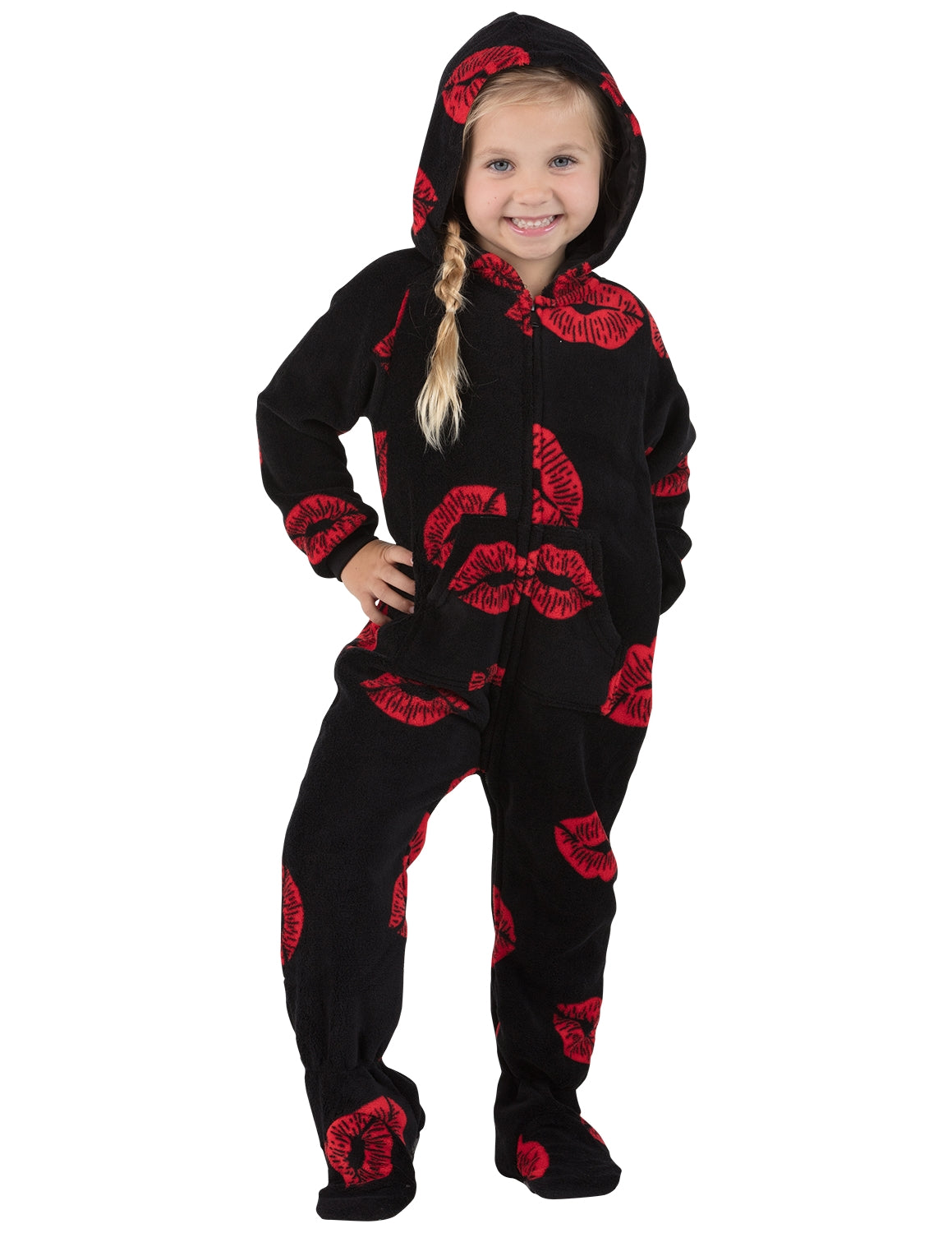 Pucker Up Toddler Hoodie Chenille Onesie
