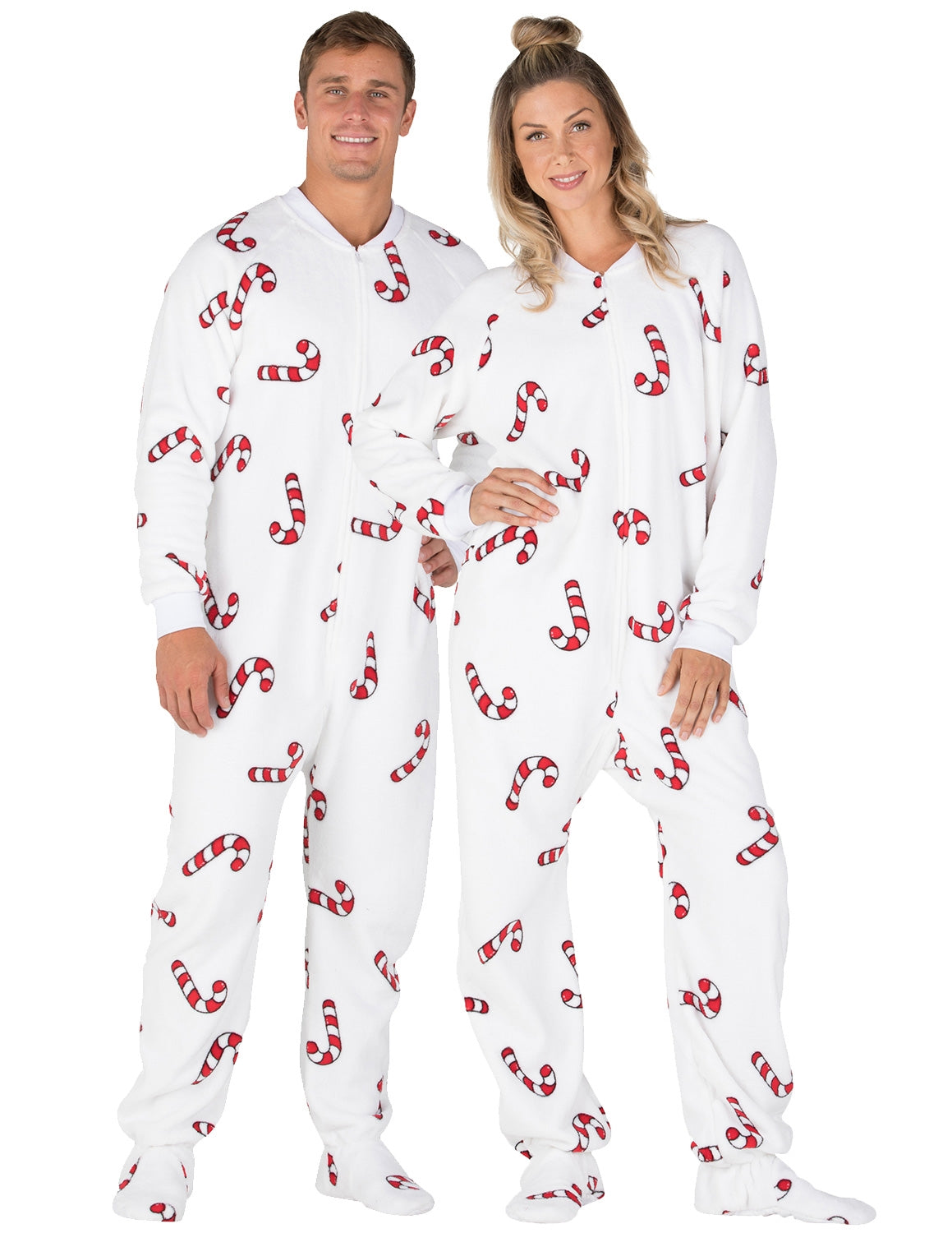 Candy Cane Lane Adult Chenille Onesie
