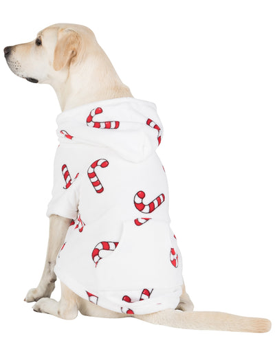 Candy Cane Lane Pet Pjs Chenille Hoodie