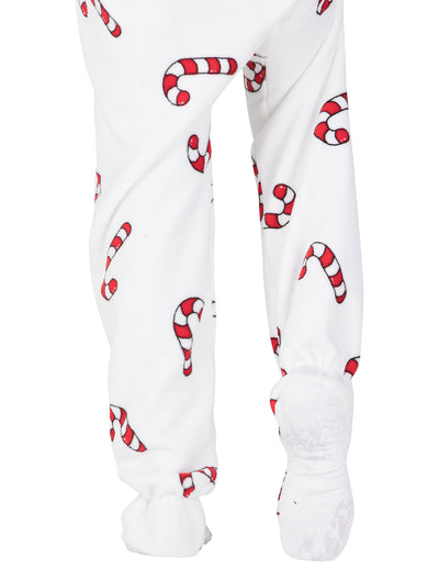 Candy Cane Lane Toddler Chenille Onesie