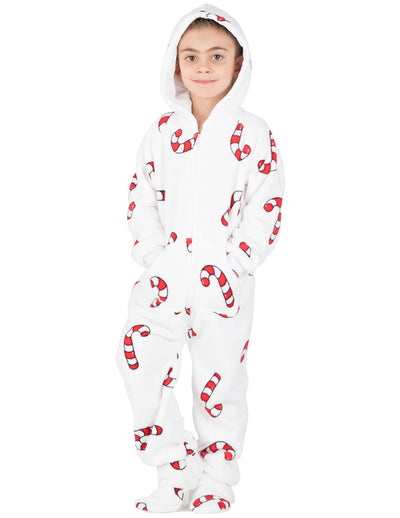 Candy Cane Lane Toddler Hoodie Chenille Onesie