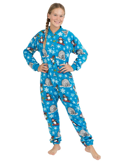 Winter Wonderland Kids Footless Fleece