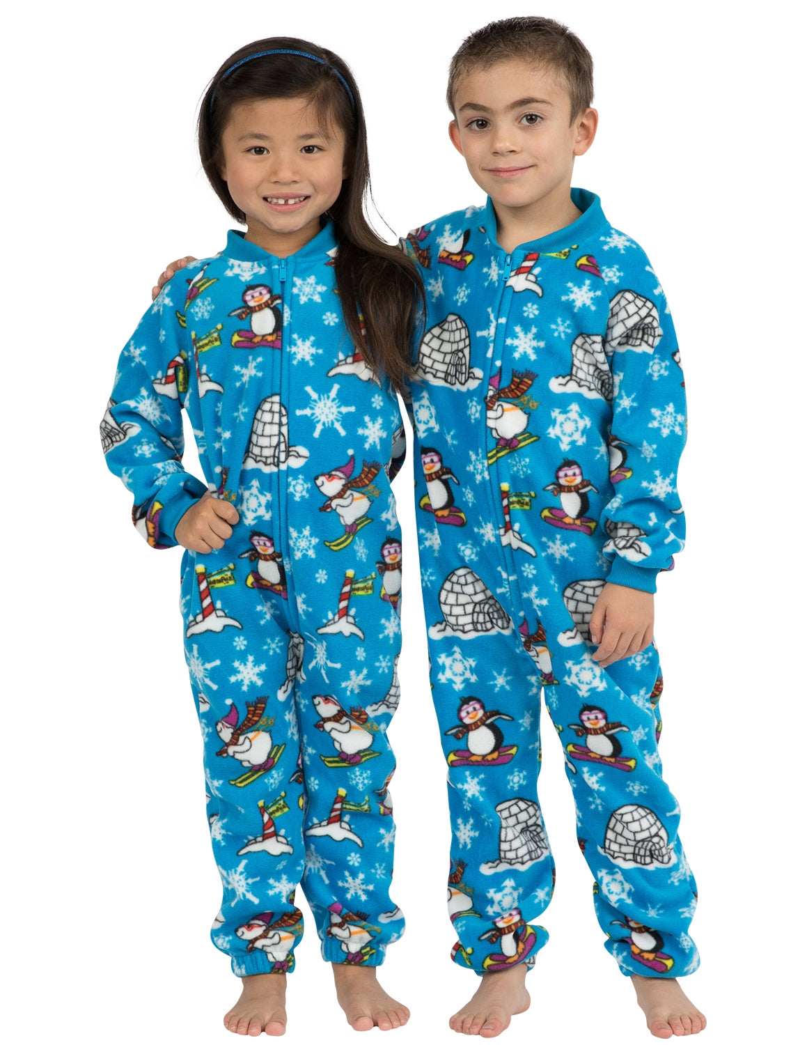 Winter Wonderland Toddler Footless Fleece