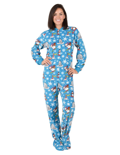 Winter Wonderland Adult Fleece Onesie