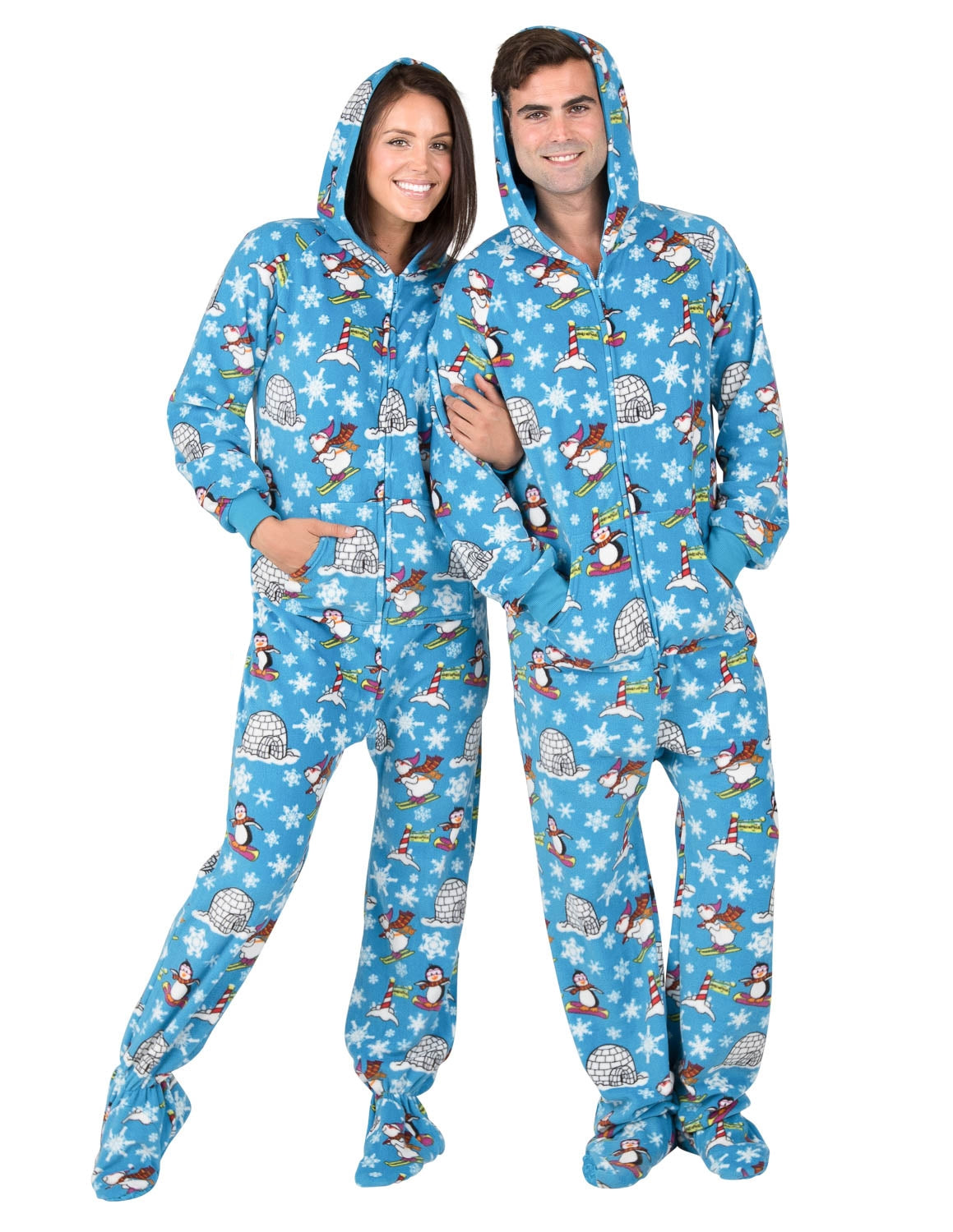 Winter Wonderland Adult Hoodie Fleece Onesie