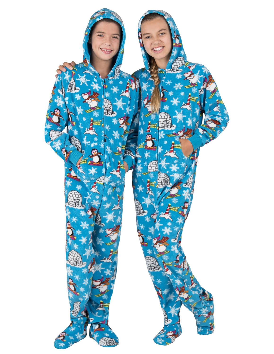 Winter Wonderland Kids Hoodie Fleece Onesie