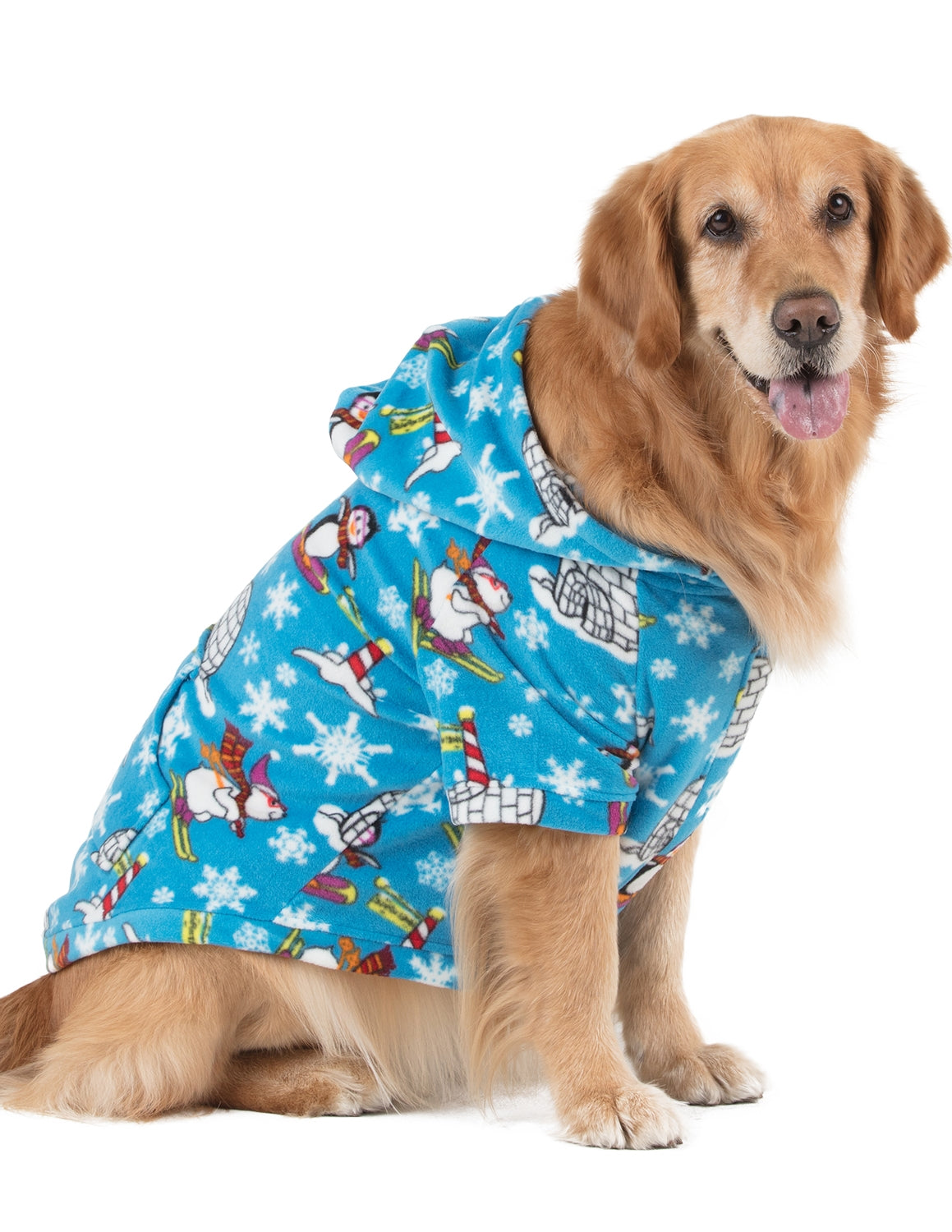 Winter Wonderland Pet Pjs Fleece Hoodie