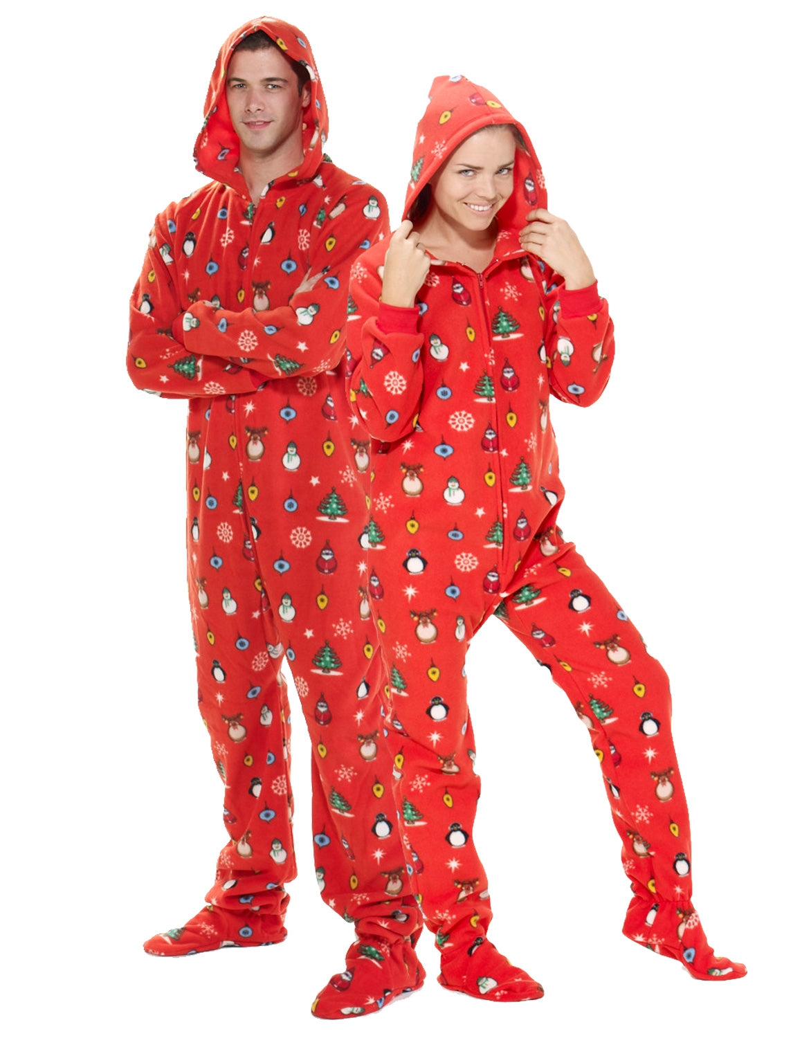 Holly Jolly Christmas Adult Hoodie Onesie