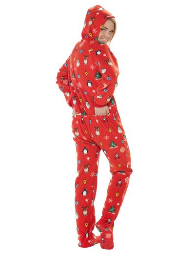 Holly Jolly Christmas Adult Hoodie Drop Seat