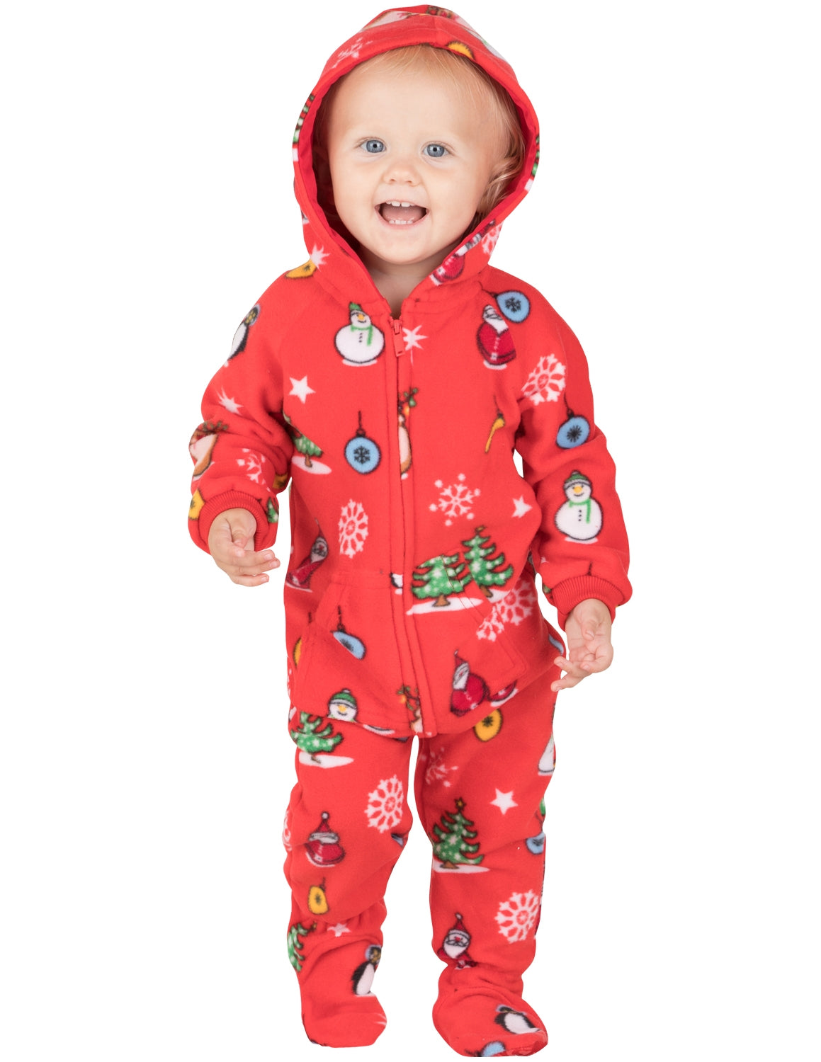 Holly Jolly Christmas Infant Hoodie Onesie