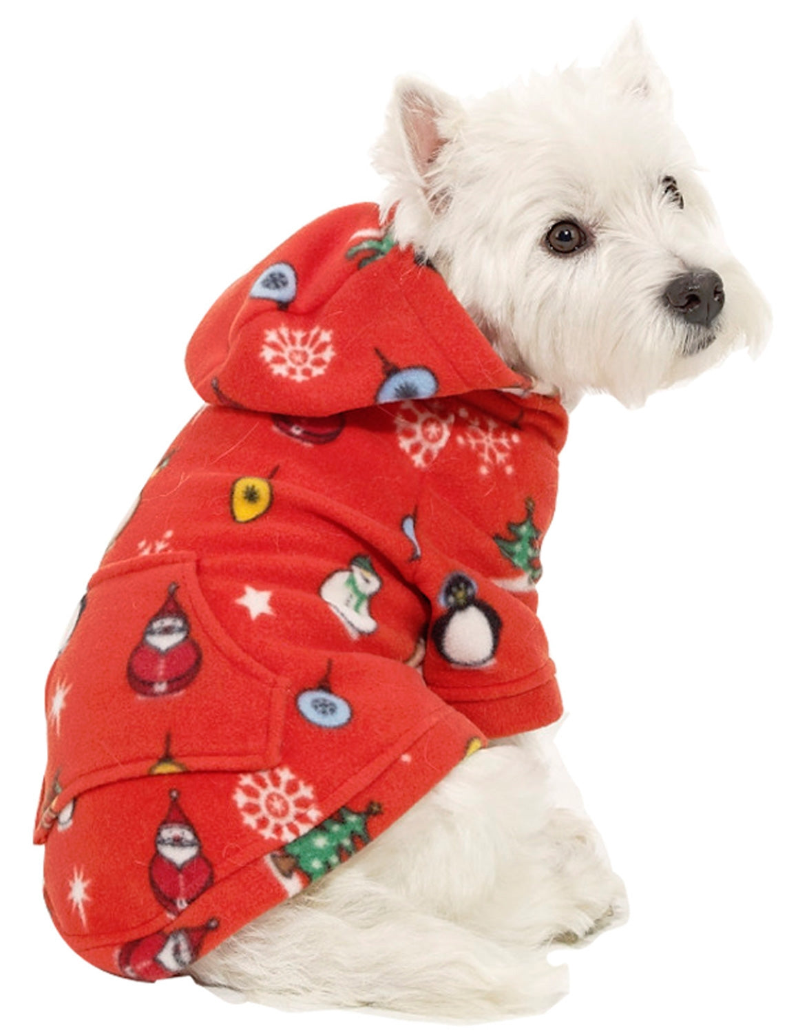 Holly Jolly Christmas Pet Pjs Fleece Hoodie