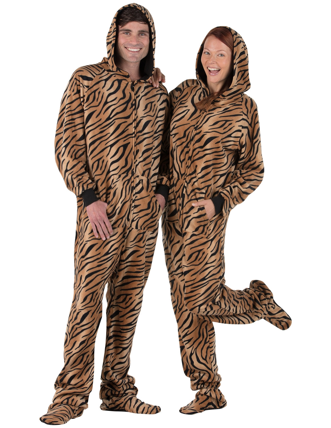 Tiger Stripes Adult Hoodie Fleece Onesie