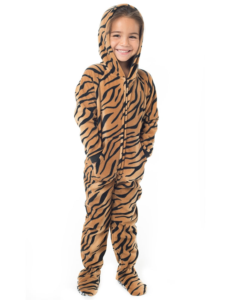 Tiger Stripes Infant Hoodie Fleece Onesie