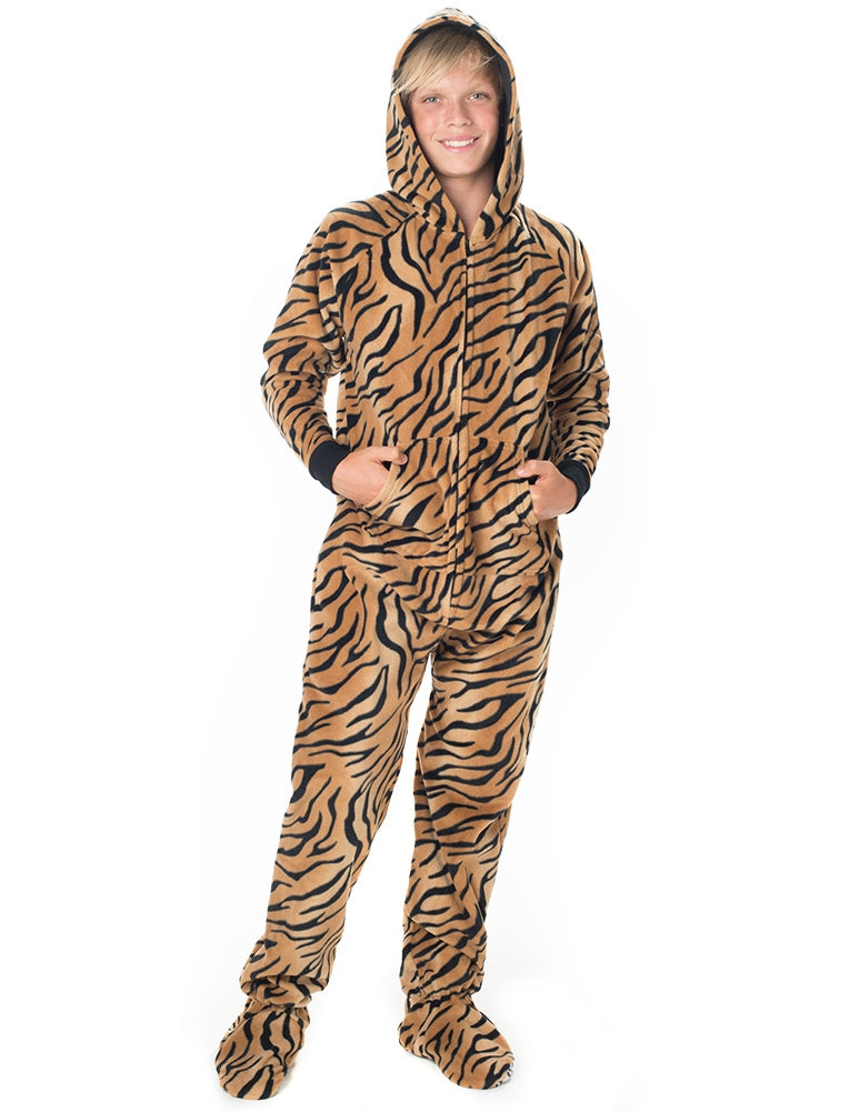 Tiger Stripes Kids Hoodie Fleece Onesie