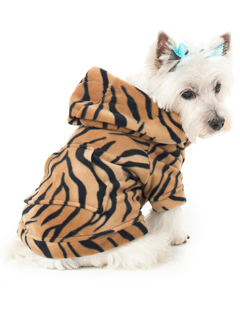 Tiger Stripes Pet Pjs Fleece Hoodie