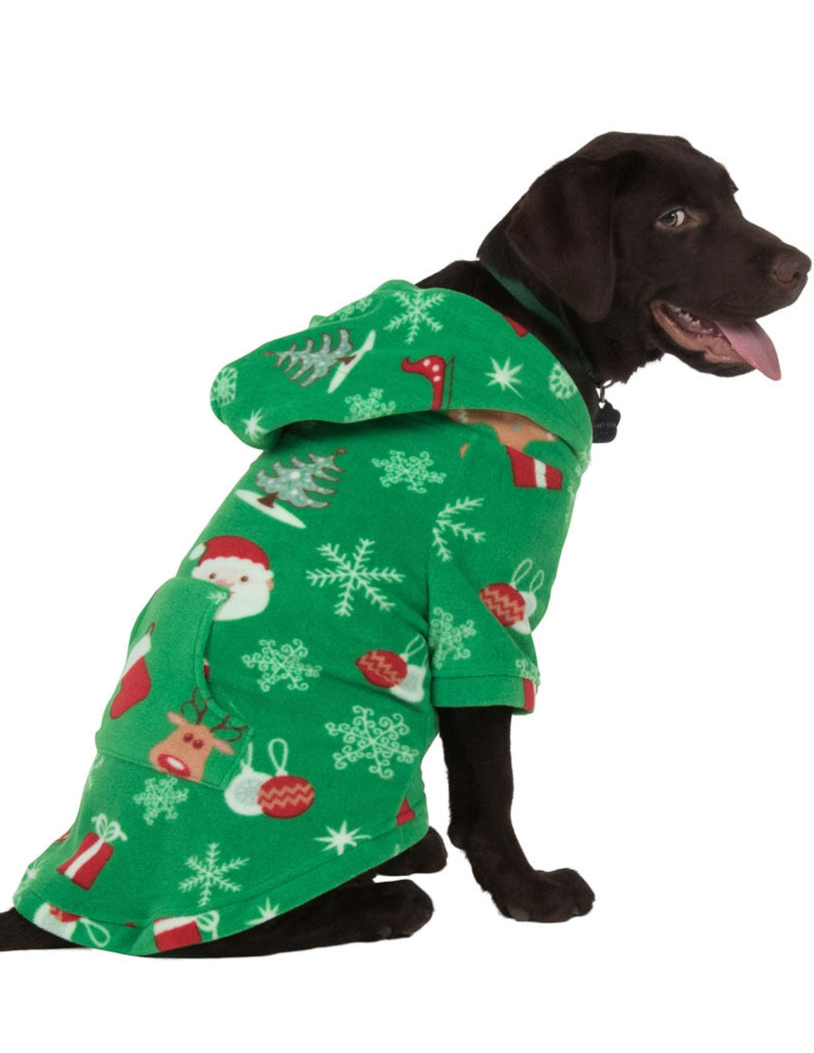 Tis The Season Pet Pjs Fleece Hoodie