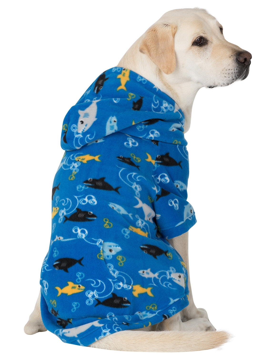 Shark Frenzy Pet Pjs Fleece Hoodie