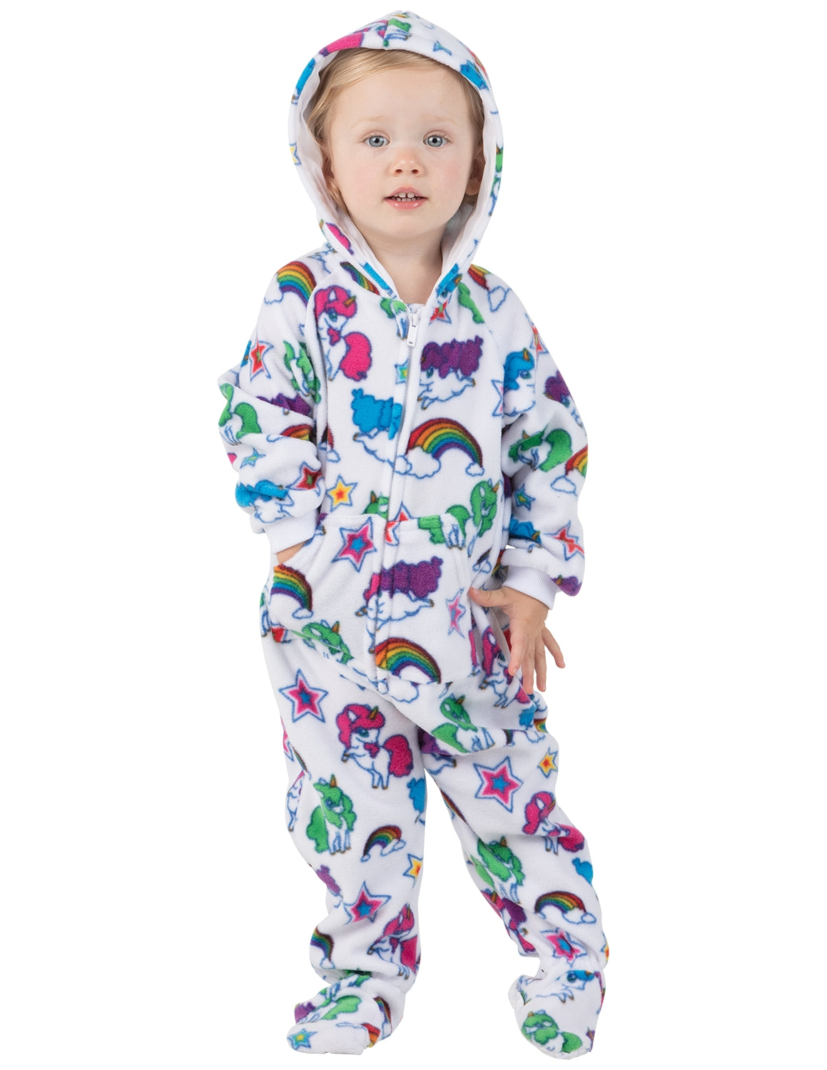 Rainbows N' Unicorns Infant Hoodie Fleece Onesie