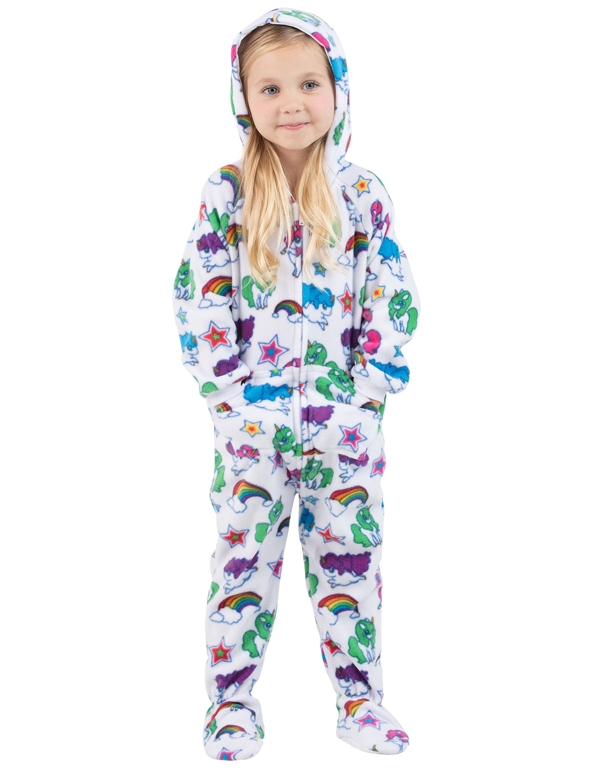 Rainbows N' Unicorns Toddler Hoodie Fleece Onesie