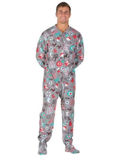 Santa's Village Adult Fleece Onesie