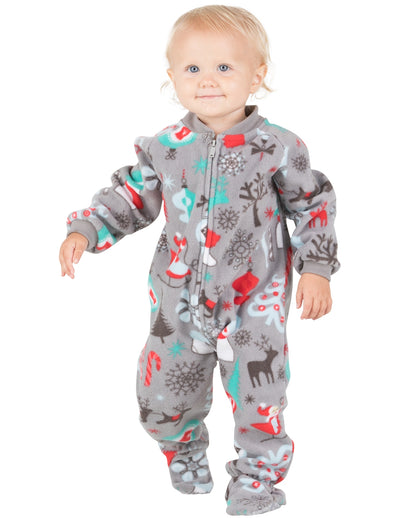Santa's Village Infant Fleece Onesie