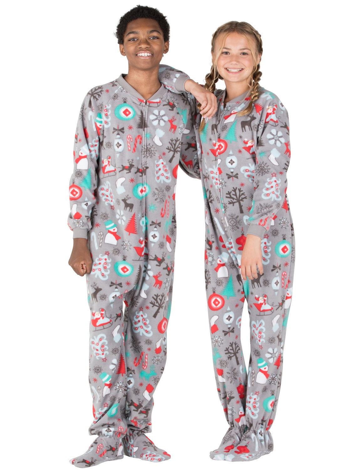 Santa's Village Kids Fleece Onesie