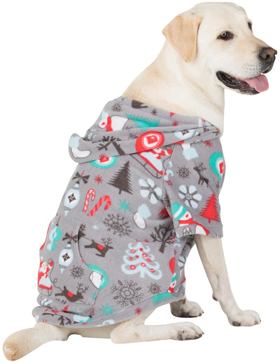 Santa's Village Pet Pjs Fleece Hoodie
