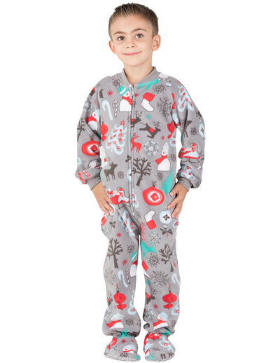 Santa's Village Toddler Fleece Onesie