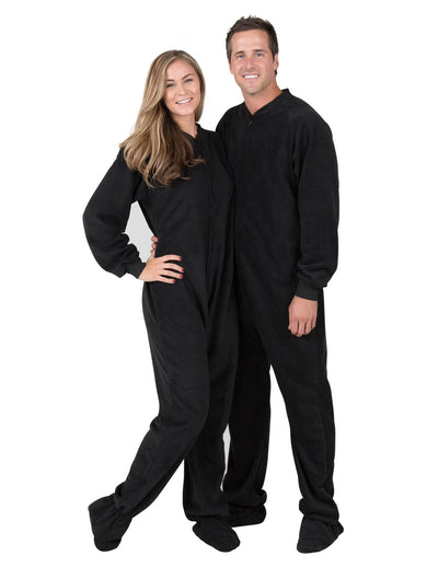 Midnite Black II Adult Fleece Onesie