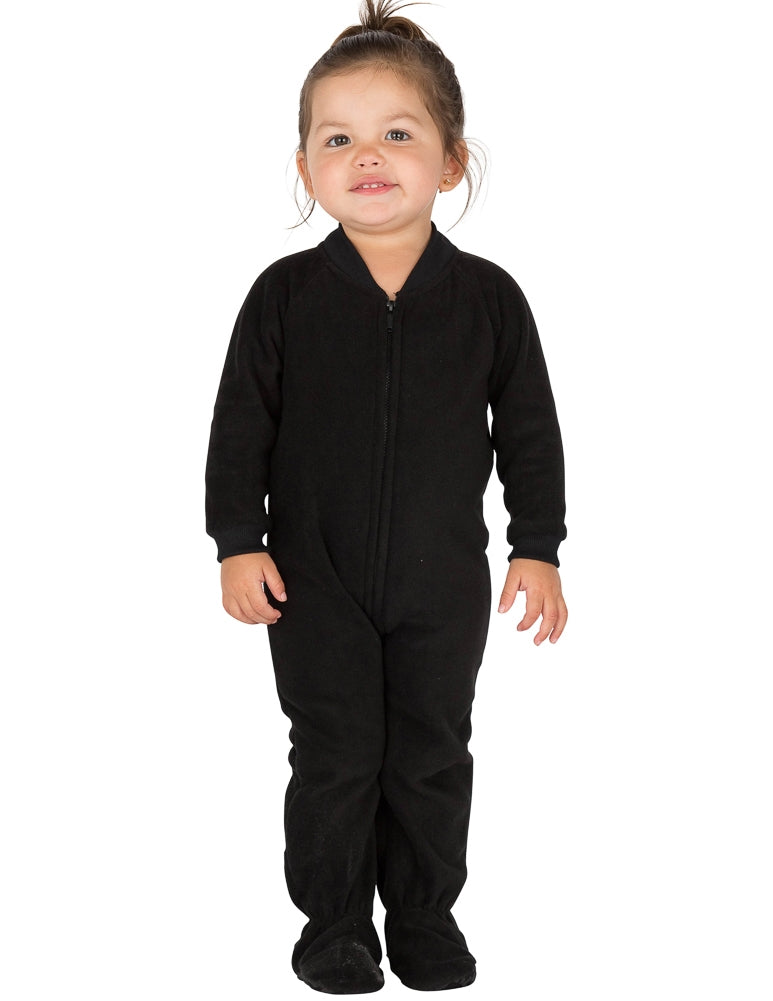 Midnite Black Infant Fleece Onesie