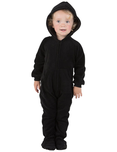 Midnite Black Infant Hoodie Fleece Onesie