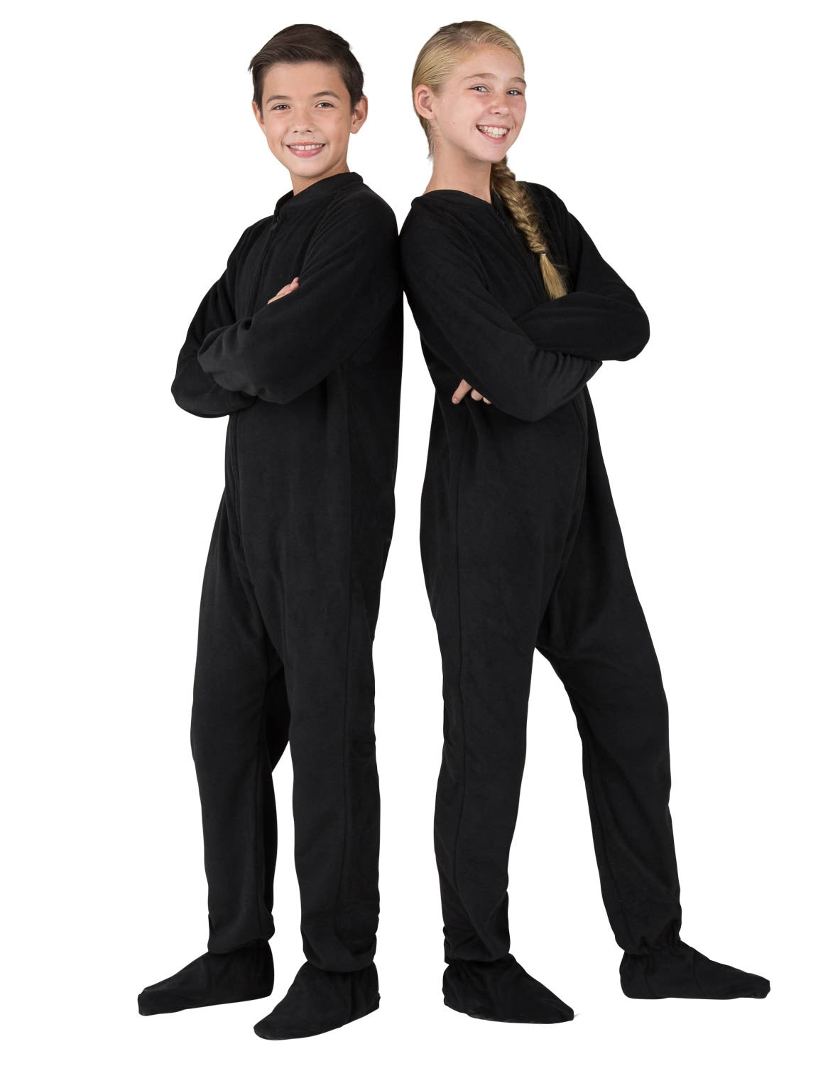 Midnite Black Kids Fleece Onesie